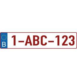 Autocollant plaque d'immatriculation belge