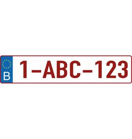 Belgian license plate Sticker