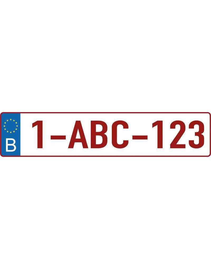 Belgian license plate Sticker
