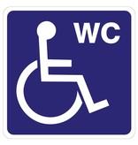 Autocollant Toilet handicapé