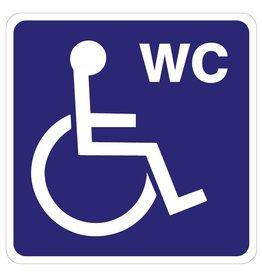 Invaliden Toilette Aufkleber