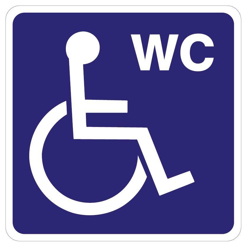Invalide toilet sticker
