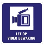 Let op videobewaking sticker