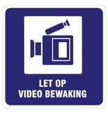 Regarder la vidéo-surveillance autocollant