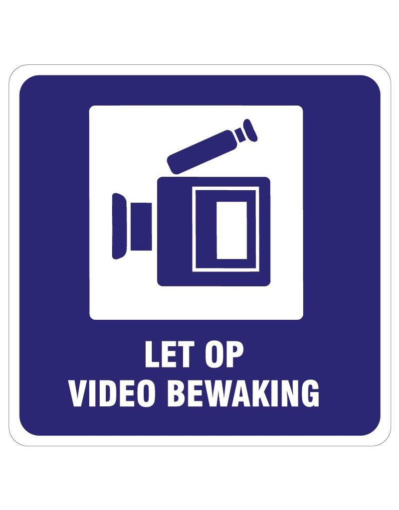 Achtung Videoüberwachung Aufkleber