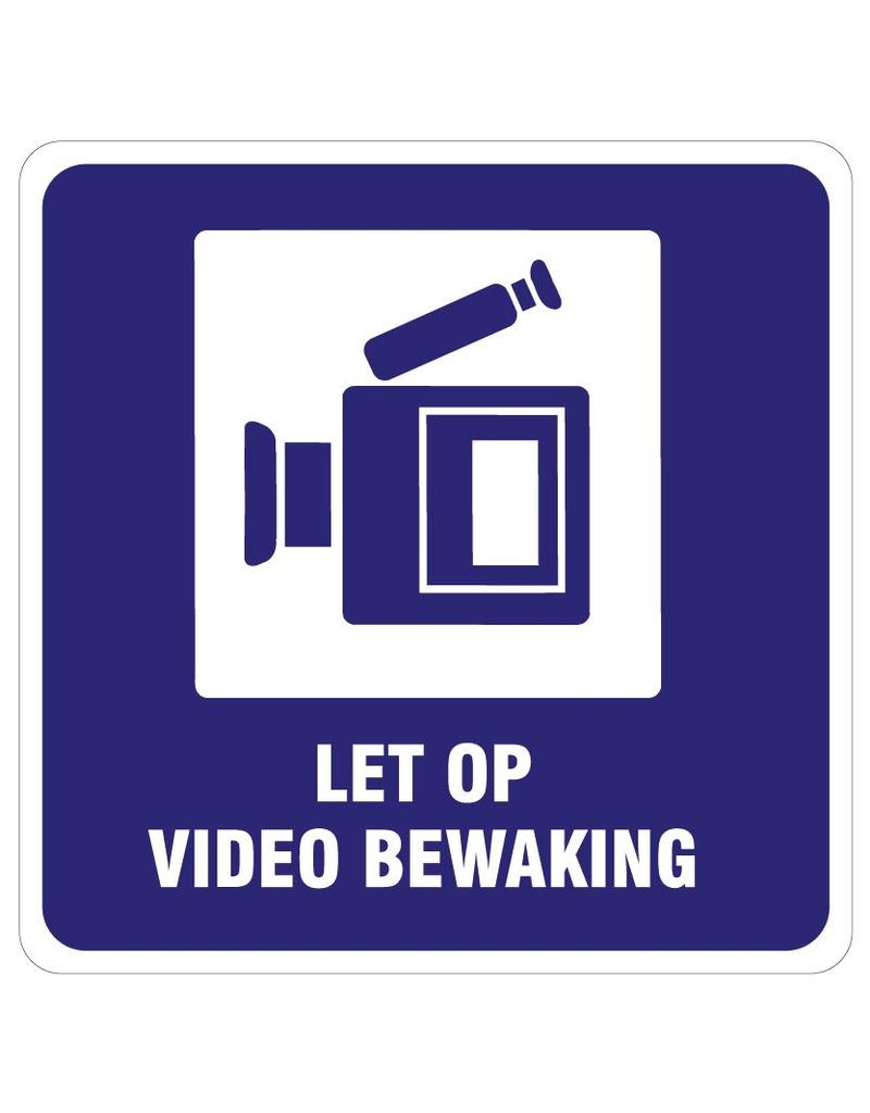 "Pegatina ""Let op videobewaking"""