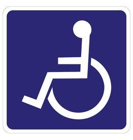 Zugang Rollstuhlfahrer Aufkleber