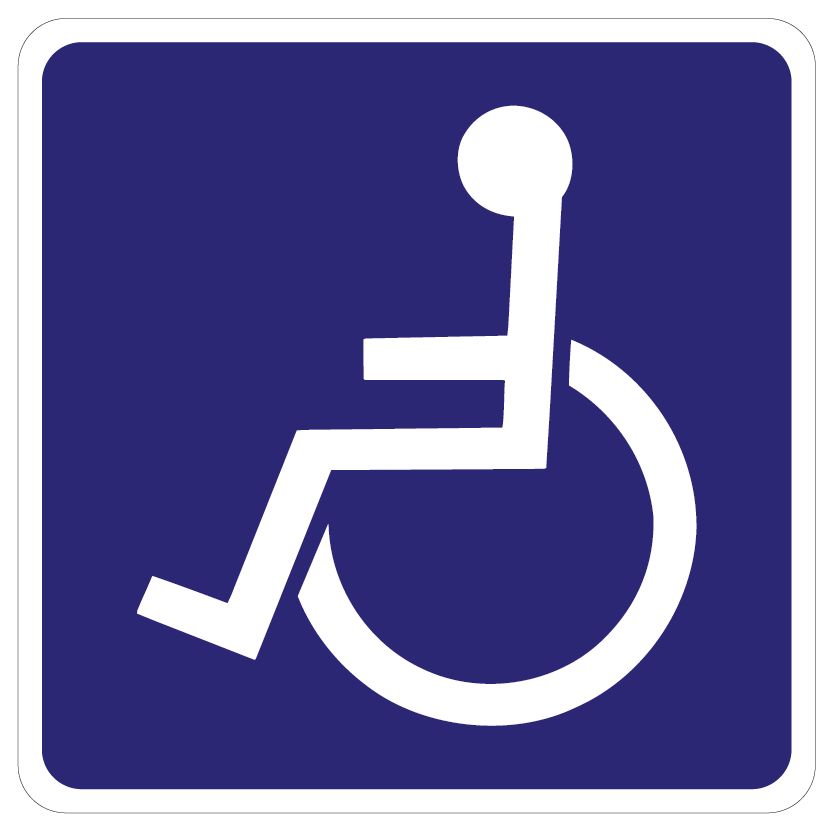 Acces for wheelchair users sticker
