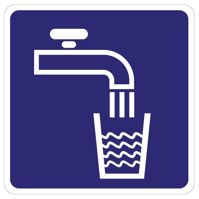 Pegatina agua potable
