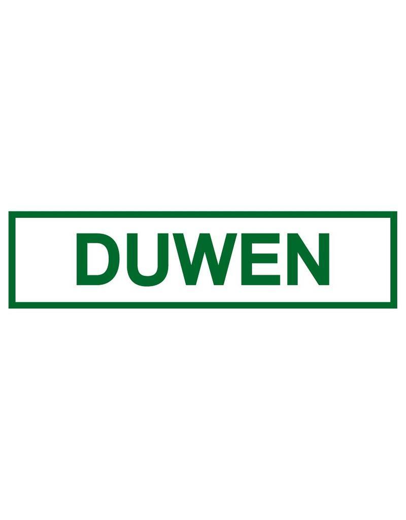 Duwen sticker