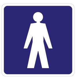 Herrentoilette Aufkleber