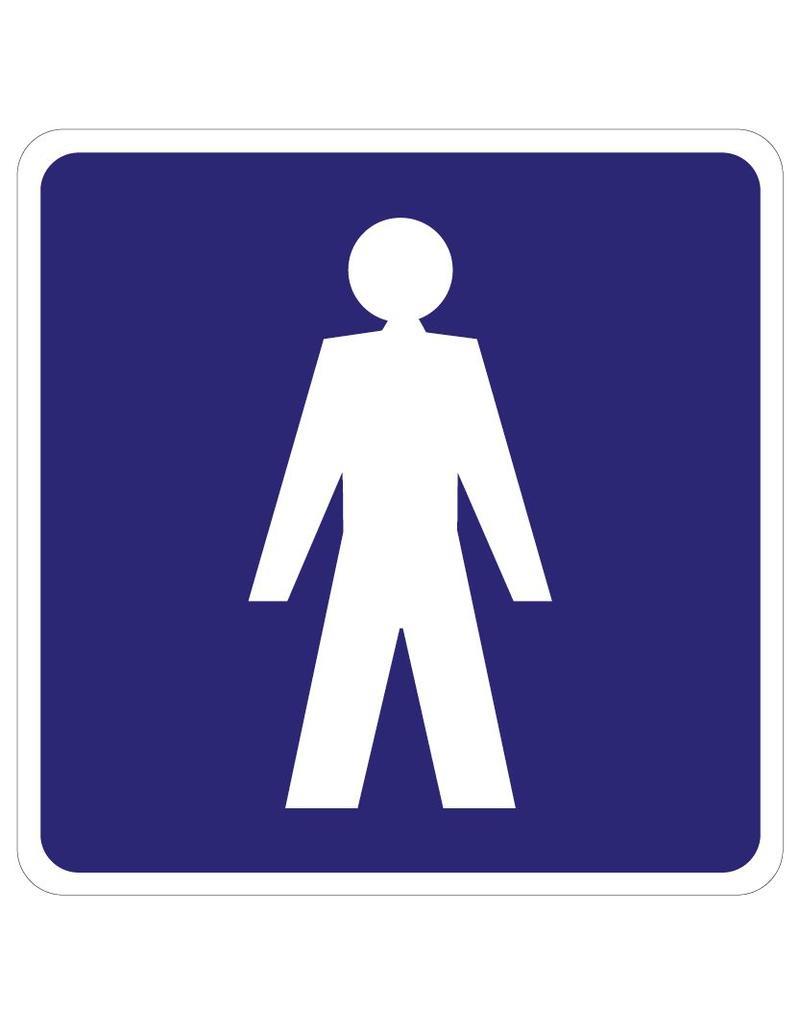 Gentlemen Toilet sticker