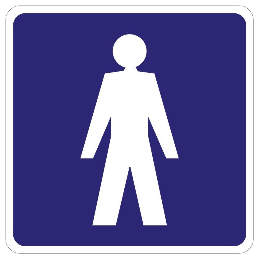 Heren Toilet sticker