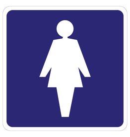 Autocollant Toilet femmes