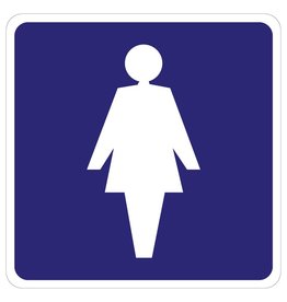 Dames Toilet sticker