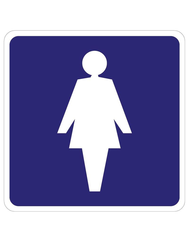 Ladies Toilet sticker