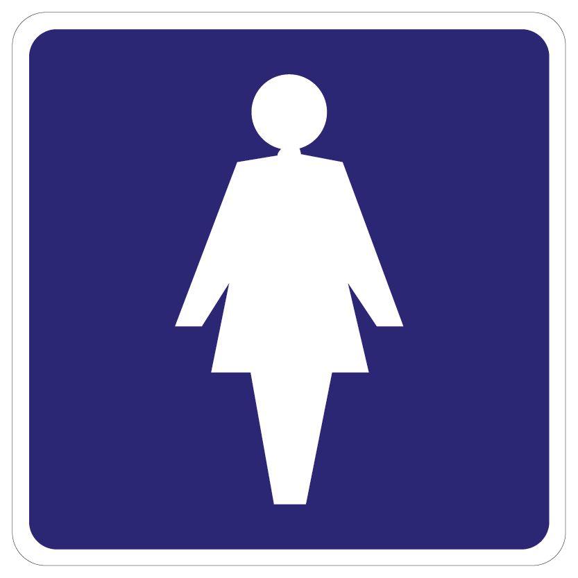 Damentoilette Aufkleber