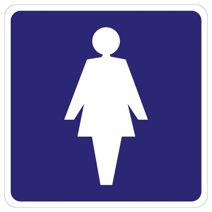 Ladies Toilet sticker