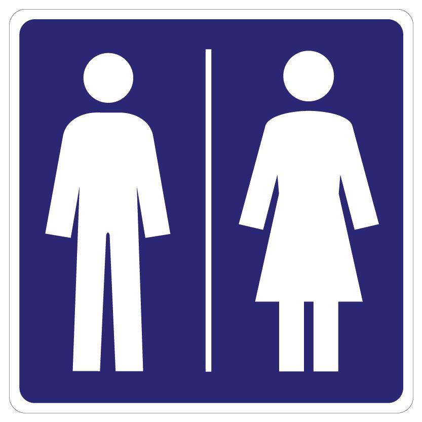 Toilette Aufkleber