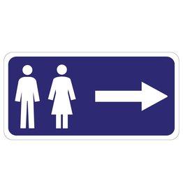 Toilette rechts Aufkleber
