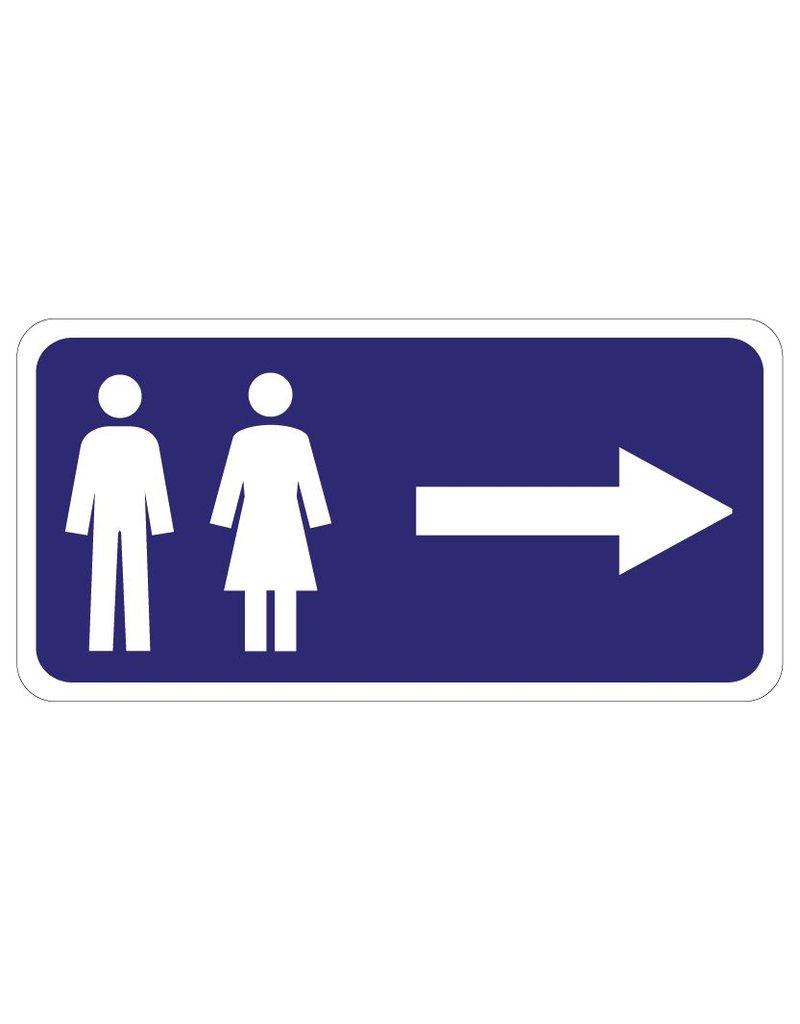 Toilettes droit Autocollant