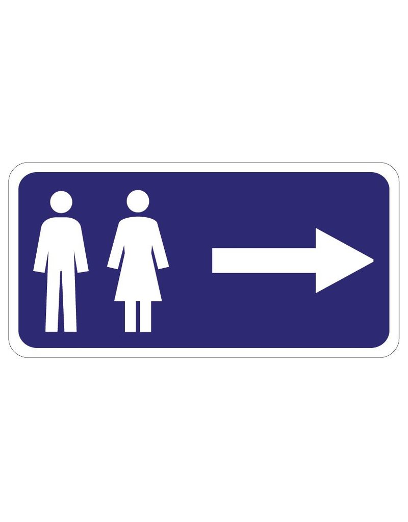 WC rechts Sticker