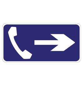 Téléphone droit autocollant