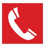 Telephone for fire alarm sticker 2