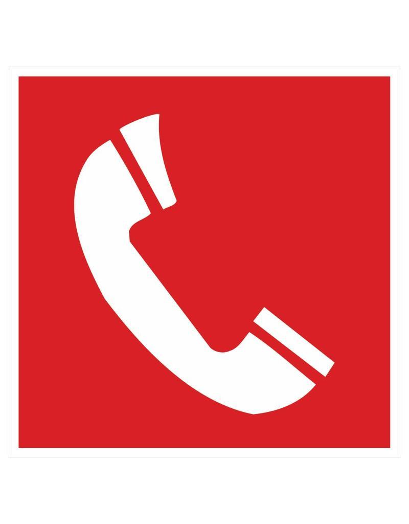 Pegatina teléfono de alarma de incendios 2