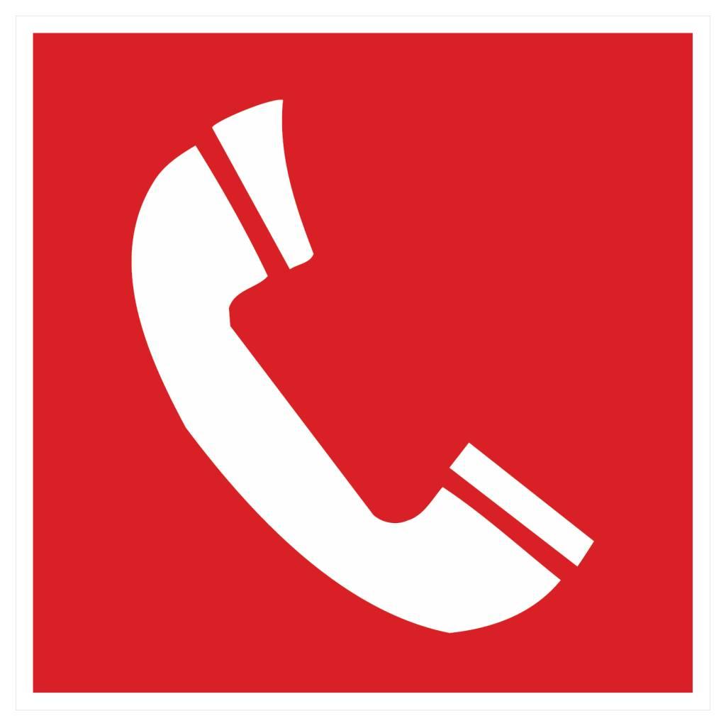 Téléphone pour alarme de feu 2 autocollant