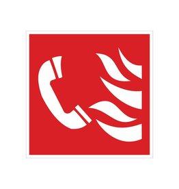 Pegatina teléfono de alarma de incendios