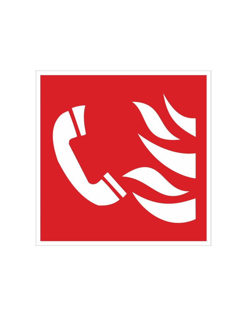 Telephone for Fire Alarm sticker