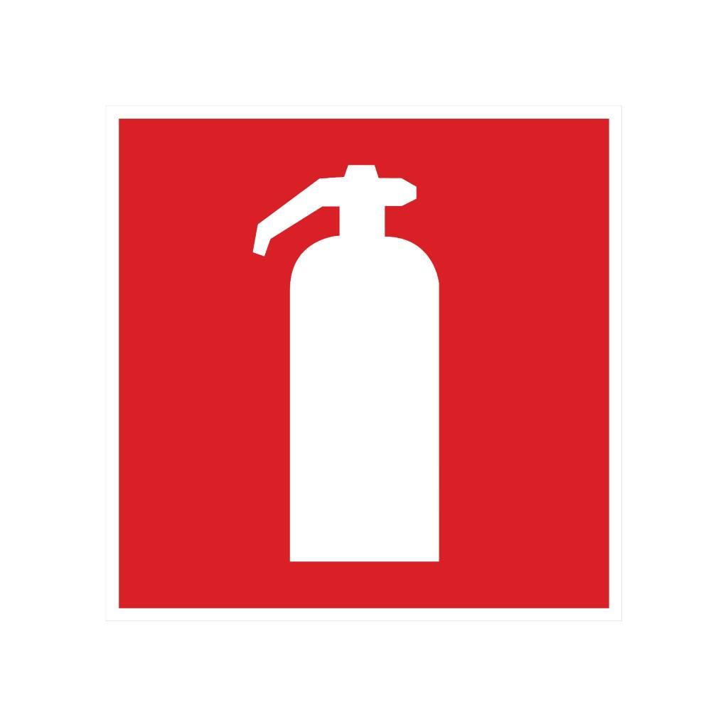 Extinguisher sticker