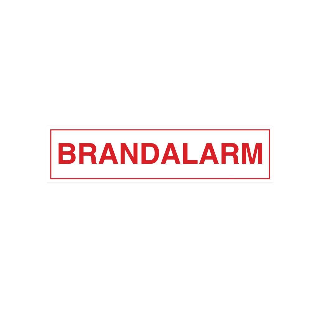 Brand alarm sticker