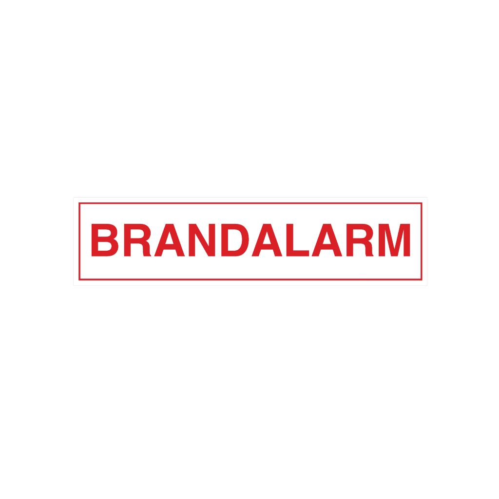 Brandalarm Sticker