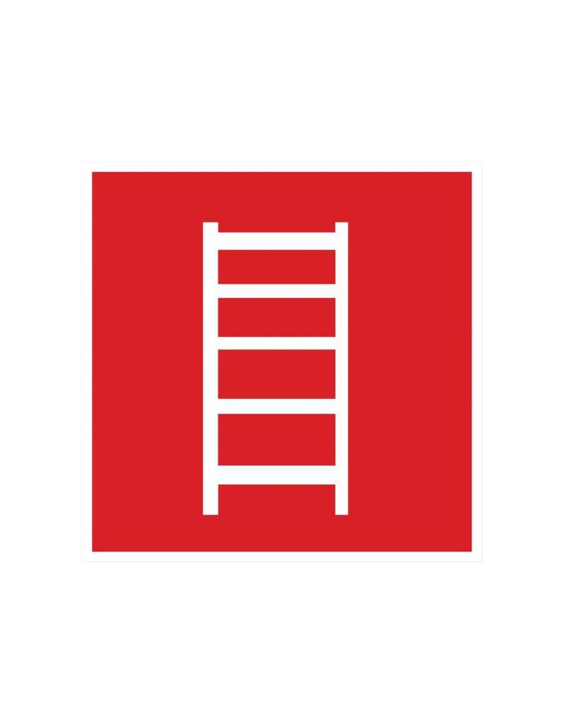 Escalier de secours 2 autocollant