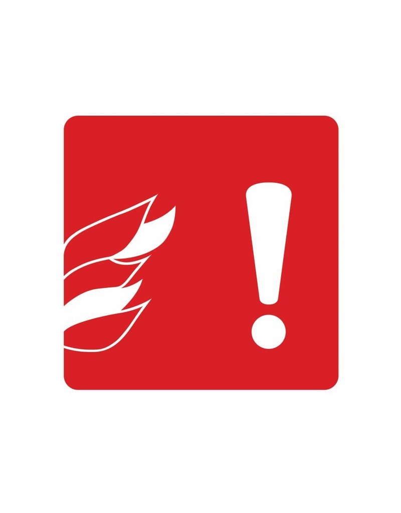 Pas op voor brand Sticker