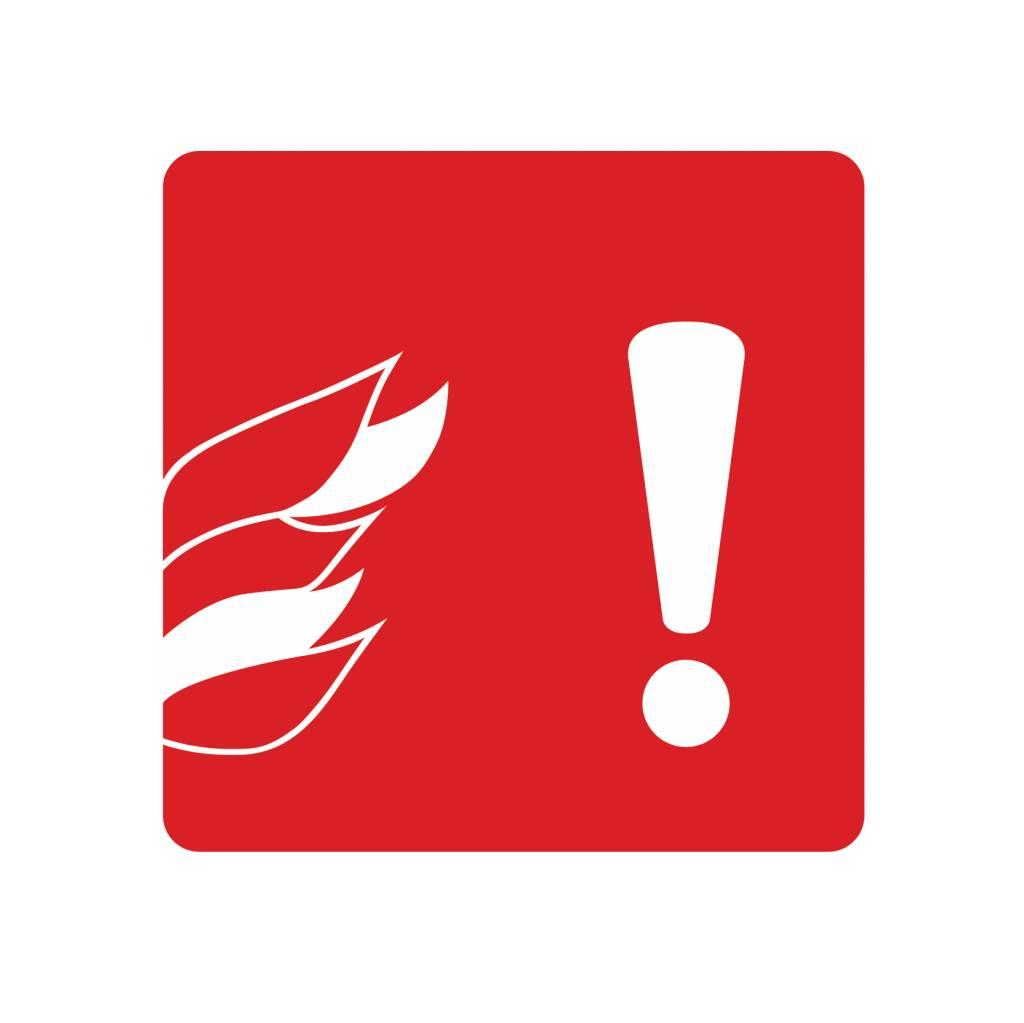 Hüten Sie sich vor Feuer Sticker