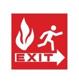 Fire exit Sticker