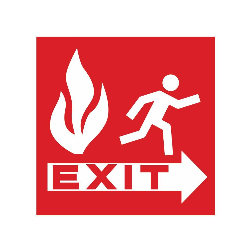 Pegatina salida de incendios