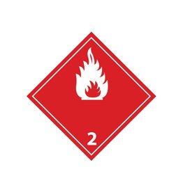 Gaz inflammables 2 blanche autocollant