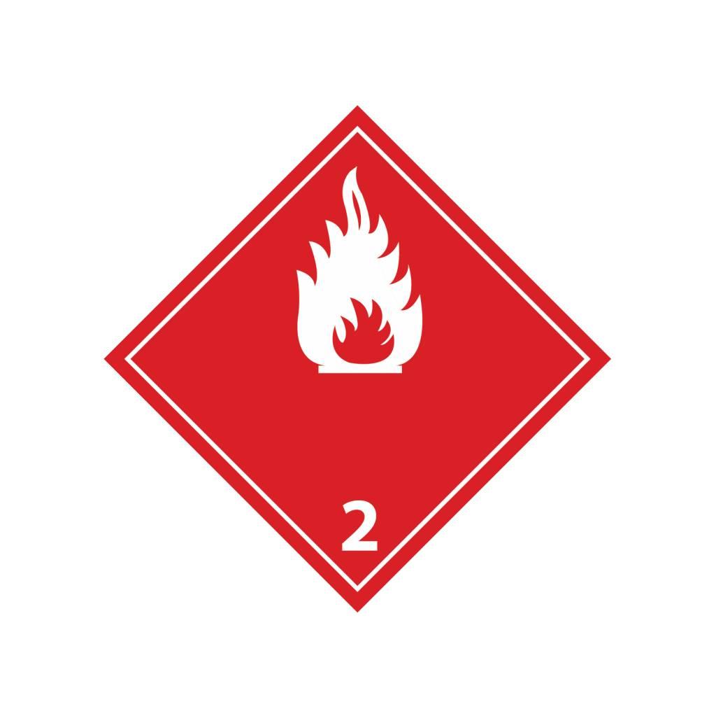 Brandbare gassen 2 wit Sticker