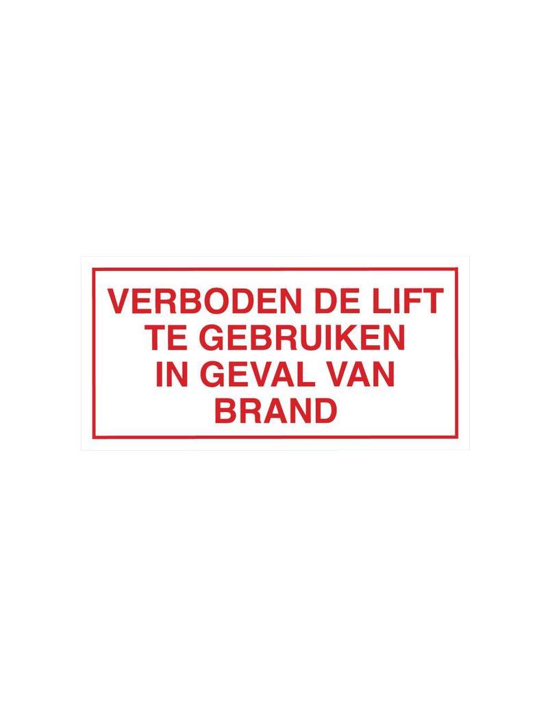 Verboden lift te gebruiken sticker