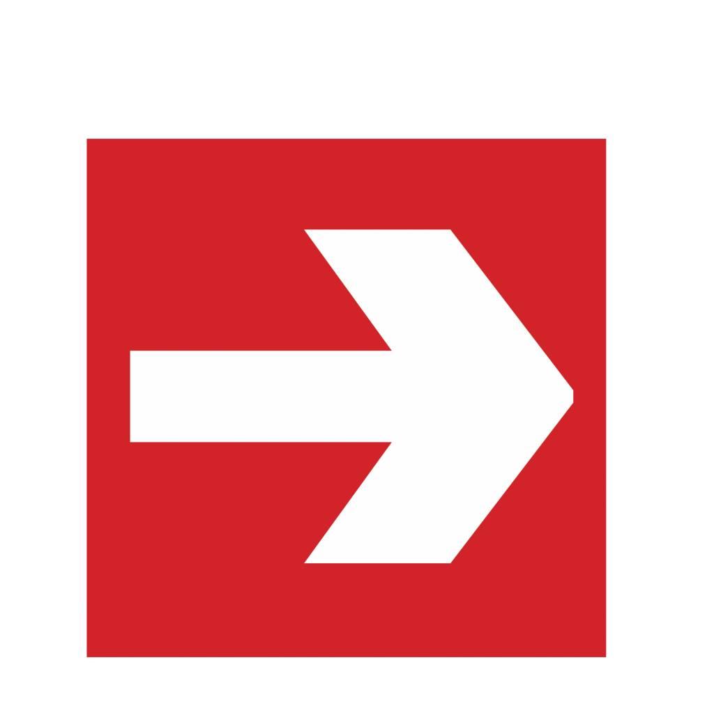 Arrow during Fire Sticker