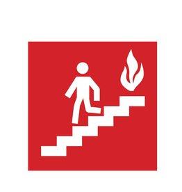 De trap nemen bij brand Sticker