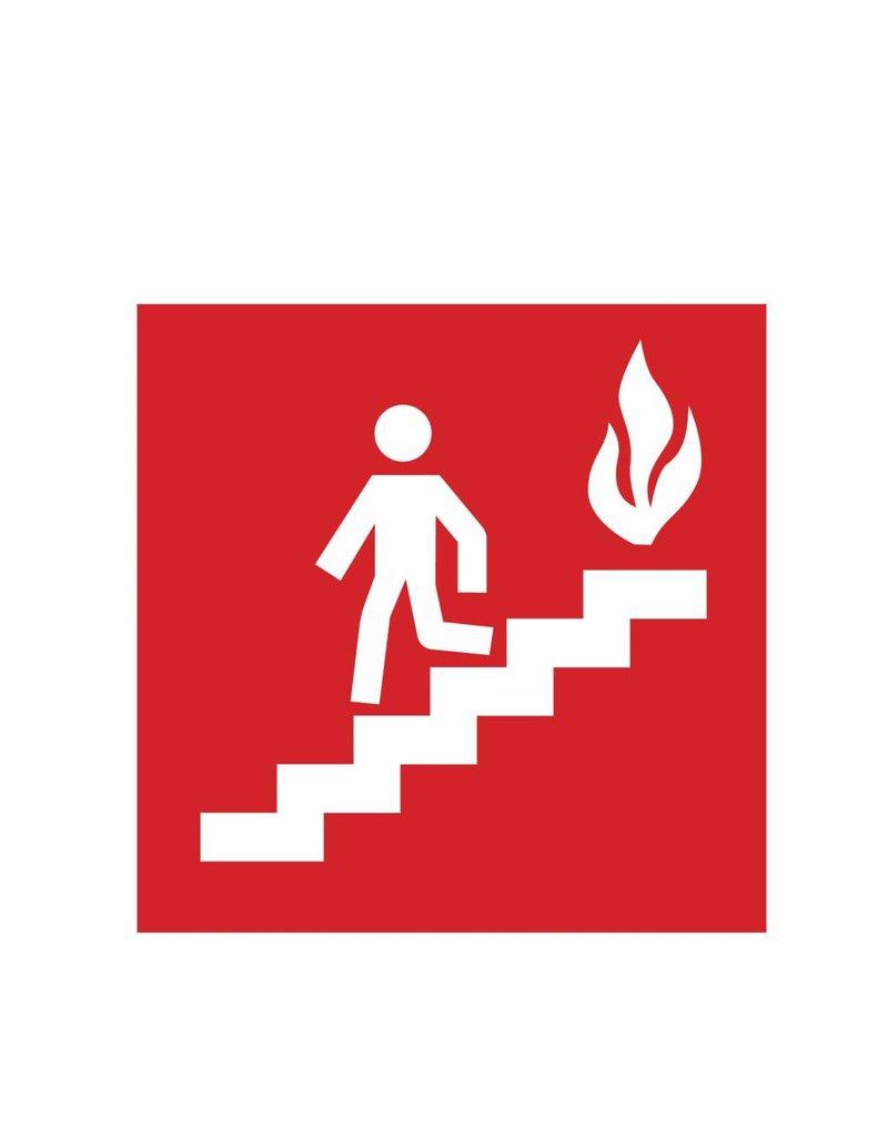 Nehmen Sie die Treppe im Brandfall Sticker