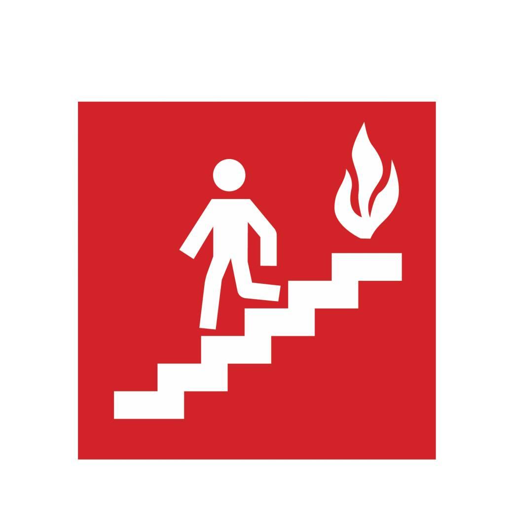 Adhesivo escalera en caso de incendio