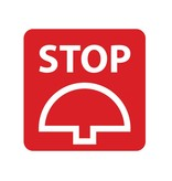 Stop knop Sticker