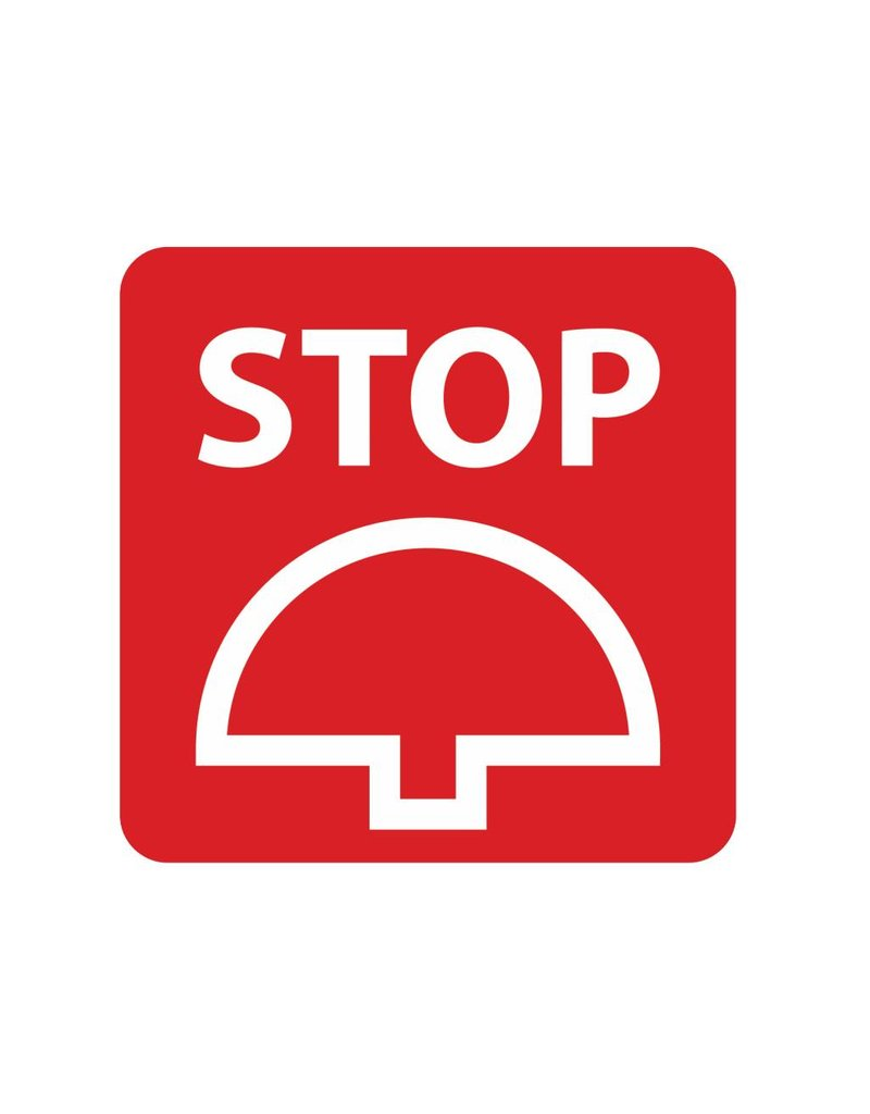 Stopp Knopf Sticker