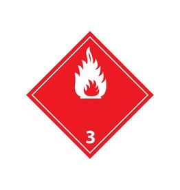 Liquides inflammables 3 autocollant